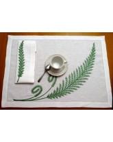 """mantel individual """"helecho"""". artesanía tradicional. hecho a mano"""