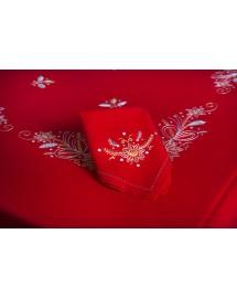mantel de navidad-flor de pascua