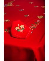 Mantel de Navidad. Bordado a mano en Lagartera