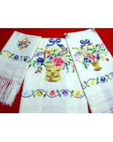 juego toallas-3-piezas-cestas multicolor