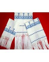 """juego de toallas""""escudos""""-bordado en lagartera"""