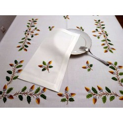 mantel de bellotas. artesanía lagarterana