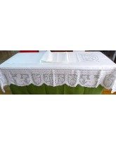 sabanilla de altar. bordados religiosos de lagartera