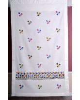 """cortina de """"los faroles"""". bordados de lagartera, tradición artesana"""