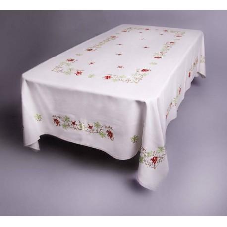 Mantel de las uvas dibujo exclusivo para una manteler a para su mesa - Manteles mesas grandes ...