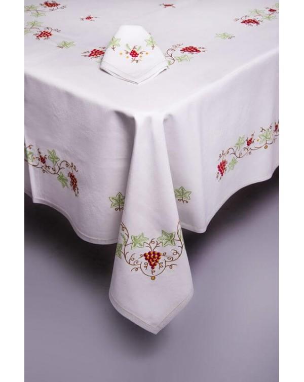 Mantel de las uvas dibujo exclusivo para una manteler a - Imagenes de mesas con manteles ...