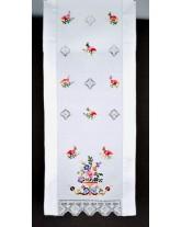 """cortina de """"cesta y pájaros"""". bordados a mano típicos de lagartera"""