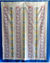 """cortina """" bordada y deshilada """". lagartera, cuna y museo del bordado"""