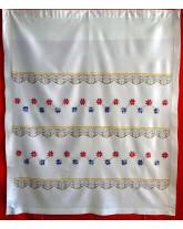 """cortina """" barras y estrellas """". labores y bordados de lagartera"""
