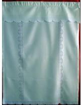 "cortina "" barras deshiladas"". artesanía de lagartera. bordados a mano"