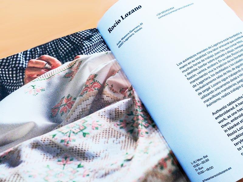 España a Mano. Libro sobre artesanía de Macarena Navarro-Reverter. Artesanía de Lagartera Rocío Lozano