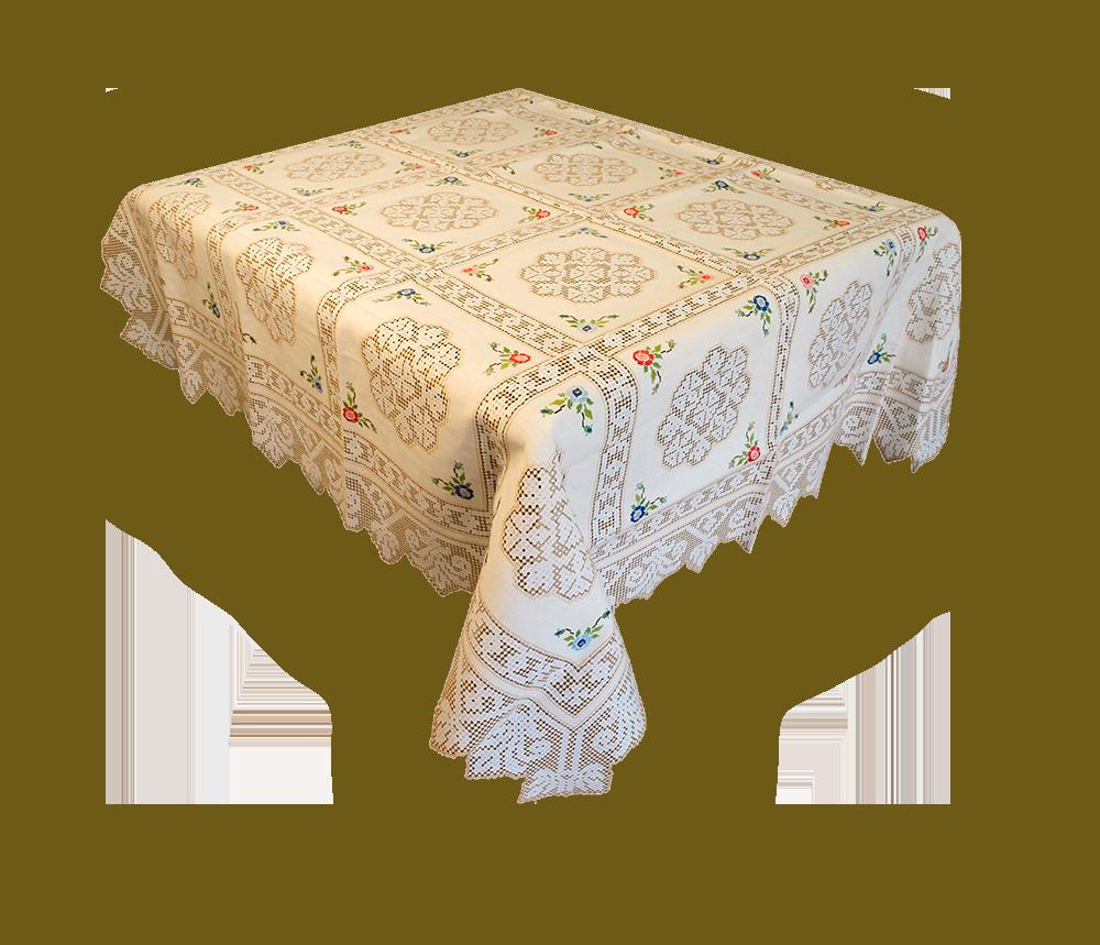 Mantel bordado deshilado de Lagartera. En Artesanía Rocío Lozano